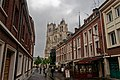 Amiens - Rue Dusevel - View NE towards Amiens Cathedral.jpg
