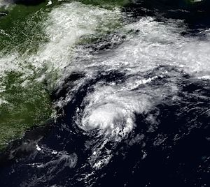 1991 Atlantic hurricane season - Image: Ana 3 July 1991