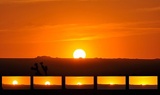 Sunset - The full cycle of a sunset on the High Plains of the Mojave Desert.