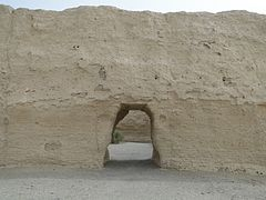 Ancient Chinese customs post on Silk Road near Dunhuang.jpg
