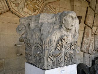 Angoulême - A Capital from the 2nd century discovered in 1888 on the Rue des Halles