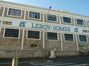 Leroy-Somer - Front of one of the plants in Angoulême, Poitou-Charentes