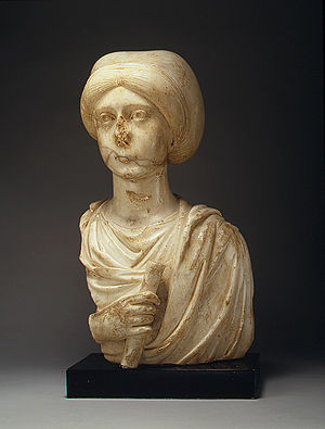 Church of St. Polyeuctus - Marble bust of Anicia Juliana, from the New York Metropolitan Museum of Art.