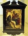 Annibale carracci (bottega), madonna col bambino e s.francesco, sul retro annunciazione, Q930.JPG