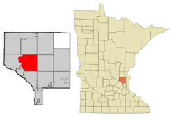 Location of the city of Andoverwithin Anoka County, Minnesota