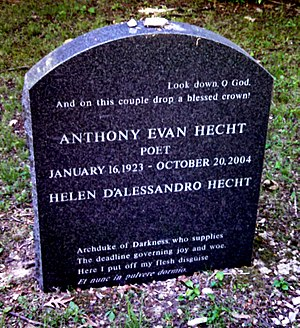 Anthony Hecht - Hecht's grave at Bard College Cemetery in Annandale-on-Hudson, New York