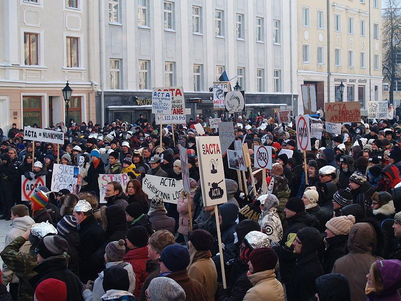 File:Anti ACTA demonstration in Tartu.JPG