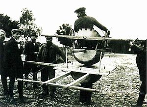 Antoinette (manufacturer) - Ground training on an Antoinette simulator