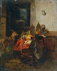 Bauernzimmer mit einem Stillleben