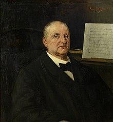 Anton Bruckner auf einem Gemälde von Ferry Bératon, 1890 (Quelle: Wikimedia)