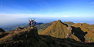 Mount Apo - Hikers at the peak