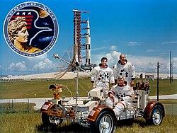 Apollo 17 – v.l.n.r. Harrison Schmitt, Eugene Cernan, Ronald Evans