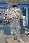 Apollo A7L Spacesuit, training suit made for Gene Cernan, ILC Industries, c. 1970 - Kennedy Space Center - Cape Canaveral, Florida - DSC02877.jpg
