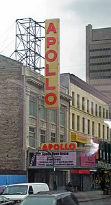 The Apollo Theater in Harlem, home of the Harlem Renaissance. New York is home to the second largest African American population and the largest recipient of immigrants from Africa to the United States.