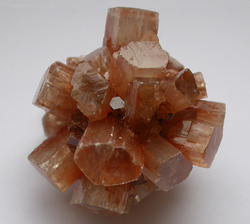 Aragonite redbrown crystals