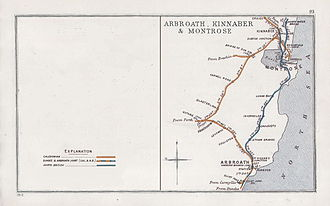 Race to the North - 1912 Railway Clearing House Junction Diagram showing railways converging at Kinnaber Junction