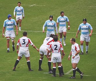 Argentina at the Rugby World Cup - The Pumas during their November 2006 win over England at Twickenham