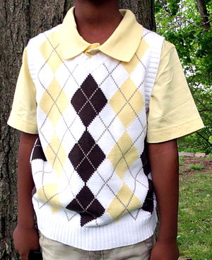Argyle (pattern) - Image: Argyle pattern sweater vest