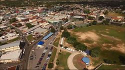 Aerial view of the Central Business District of Arima, Trinidad & Tobago