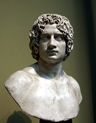 Roman sculpture of a young man sometimes identified as Arminius Arminius pushkin.jpg
