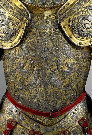 Parade Armour of Henry II of France - Image: Armor of Henry II, King of France (reigned 1547–59) MET DP208250