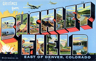 Buckley Air Force Base - World War II Postcard