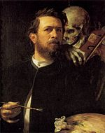Arnold Böcklin - Self-Portrait with Death as a Fiddler - WGA3033.jpg