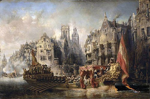 Arrival of the Duke of Alba at Rotterdam in 1567 Arrivee du duc d'Albe a Rotterdam - Eugene Isabey.jpg