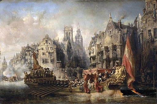 Arrivée du duc d'Albe à Rotterdam - Eugène Isabey