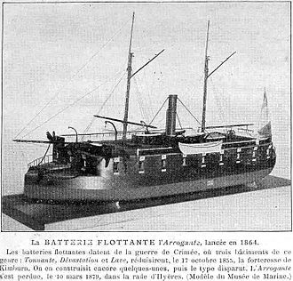 Floating battery - French armoured floating battery Arrogante (1864)