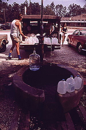 Abita Springs, Louisiana - The artesian water at Abita Springs enjoyed regional popularity for more than a century.