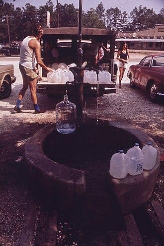 Abita Springs, Louisiana - The artesian water at Abita Springs enjoyed regional popularity for more than a century.