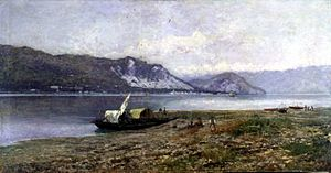 Lorenzo Gignous - Veduta del Lago Maggiore, 1885 ca. (Art collections of Fondazione Cariplo)