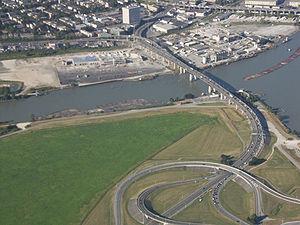 Arthur Laing Bridge - Image: Arthur Laing Bridge Aerial