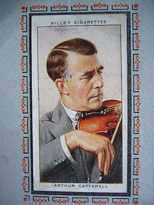 Arthur Catterall - photo of Wills's cigarette card showing BBC Symphony Orchestra leader Arthur Catterall.