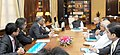 Arun Jaitley in a presentation and discussion with the Chairman of SERI Committee on Alternative Investment Policy Advisory Committee, Shri N.R. Narayana Murthy, in New Delhi.jpg