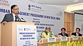 Arvind Panagariya addressing at a meeting of the experts, academicians, representatives from the state Governments and urban local bodies, to discuss issues related to urban management- the planning and governance.jpg