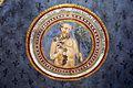 Asciano, museo di palazzo corboli, int., sala delle 4 stagioni con affreschi attr. a Cristoforo di Bindoccio e Meo di Pero, XIV sec. autunno.JPG