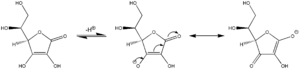 Vinylogy - Electron pushing for major resonance structures in conjugate base of ascorbic acid