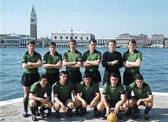 Venezia F.C. - 1963–64 Venezia with its historical black and green kit