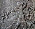 Assyrian relief depicting a royal lion hunt Ashur (Assur) 8th-7th centuries BCE (32106237222).jpg