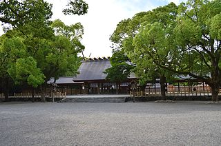Shinto shrine traditionally believed to have been established during the reign of Emperor Keikō (71-130) located in Atsuta-ku, Nagoya, Aichi Prefecture in Japan