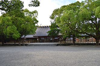 Atsuta Shrine - The haiden, or prayer hall, 2014