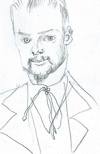 Ficheiro:August Macke, Zeichnung Paul Klee, 1914.jpg
