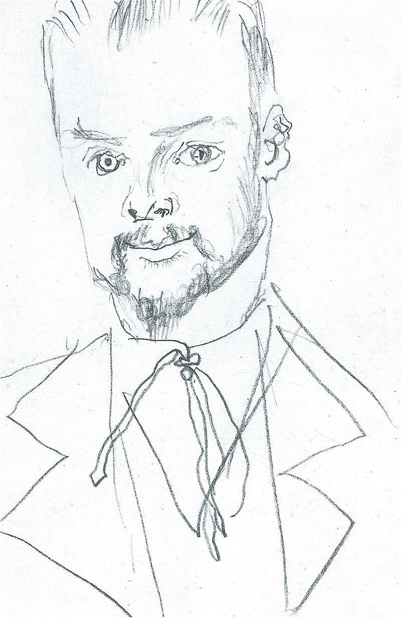 August Macke, Zeichnung Paul Klee, 1914.jpg
