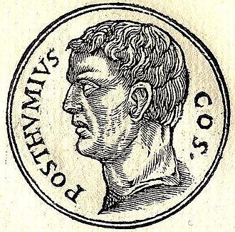 Aulus Postumius Albinus - Aulus Albinus from Guillaume Rouillé's Promptuarii Iconum Insigniorum