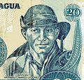 Ausschnitt 20 Córdoba Banknote Nicaragua 1985 Comandante Germán Pomares Ordonez.jpg