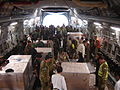 Australian aid being unloaded in Myanmar in response to Cyclone Nargis, 2008. Photo- AusAID (10673679205).jpg