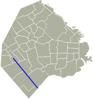 Avenida Escalada - Location of Avenida Escalada in Buenos Aires.