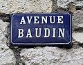 Avenue Baudin (Belley), panneau.jpg